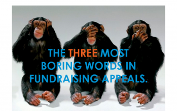 3 Most Boring Words in Fundraising Appeals