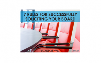 7 Rules for Successfully Soliciting Board Members